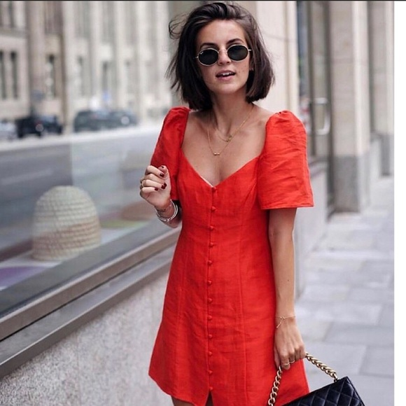 c4b50cb5 Zara Dresses | Blogger Favorite Puff Sleeve Red Dress | Poshmark